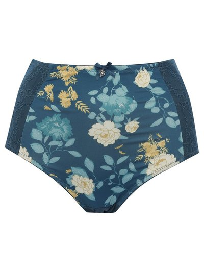 Yellow floral high waist medium control briefs