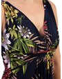 Izabel London Floral Plunge Maxi Dress