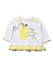 Frill hem lemon top