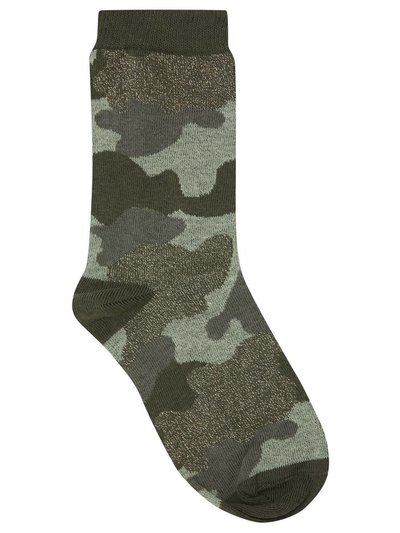 Teen glitter camo socks