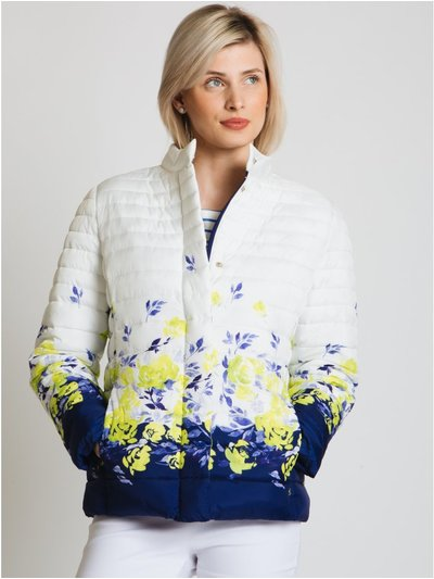 Jessica Graaf border print quilted jacket