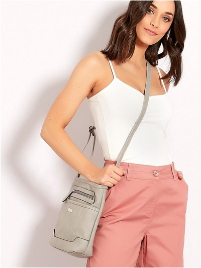 Crossbody zip panel bag