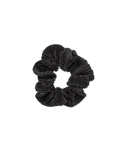 Black Plisse Scrunchie