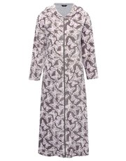 Butterfly zip front dressing gown
