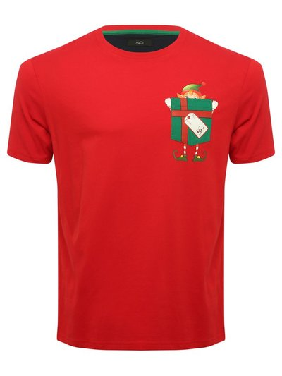 Elf pocket Christmas t-shirt