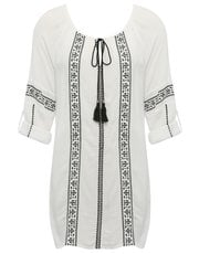 Gypsy embroidered beach tunic