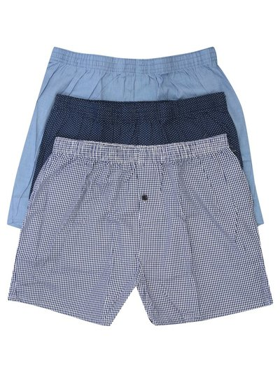 Woven cotton boxers three pack