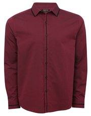 Burgundy black trim shirt
