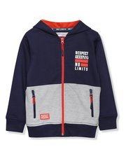 Minoti sport slogan zip up hoody