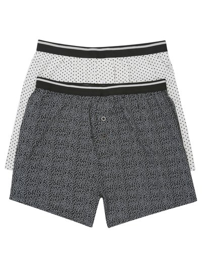 Bamboo blend boxers two pack