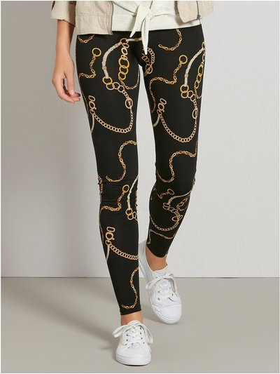 Chain print leggings