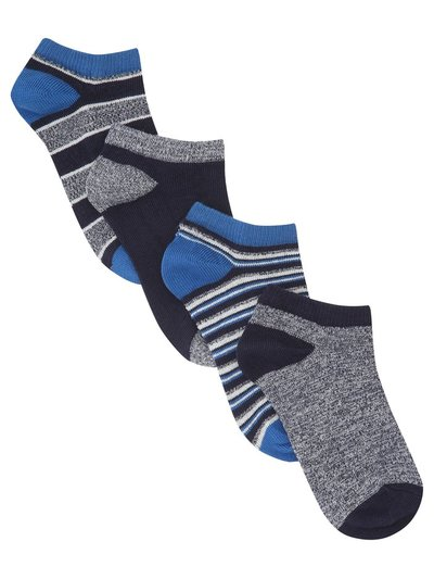 Stripe trainer socks four pack