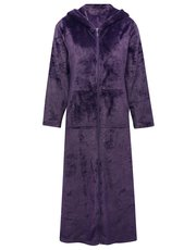 Floral zip front dressing gown