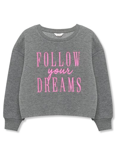 Follow your dreams slogan sweatshirt (3-12yrs)