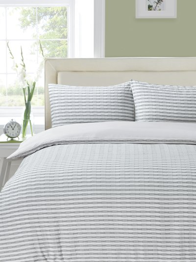 Textured stripe duvet set