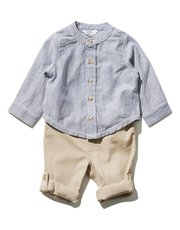 Grandad shirt and trousers set (0 mths - 4 yrs)