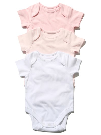Pink bodysuit three pack (Tinybaby-18mths)