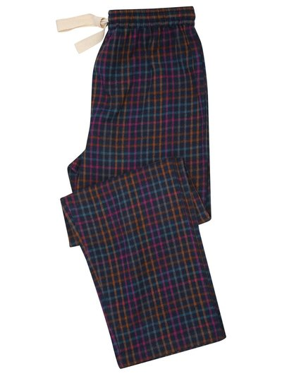 Grid check lounge trousers