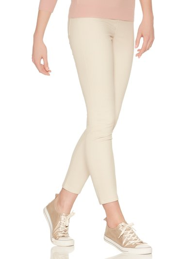 Beige denim jeggings