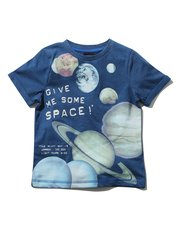 Science Museum glow in the dark planet print t-shirt