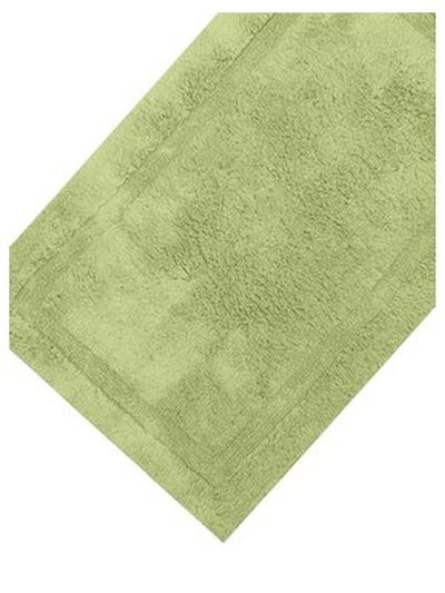 Green cotton deep pile bathmat