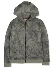 Marble effect zip through hoodie (3-12yrs)