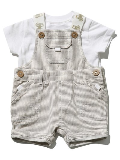 Stripe dungarees and top set (0 mths - 3 yrs)