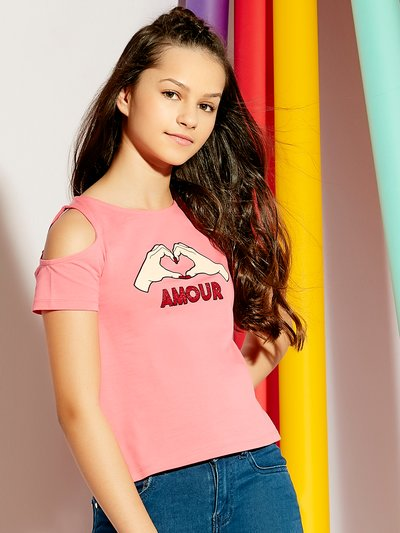Teens' amour cold shoulder t-shirt