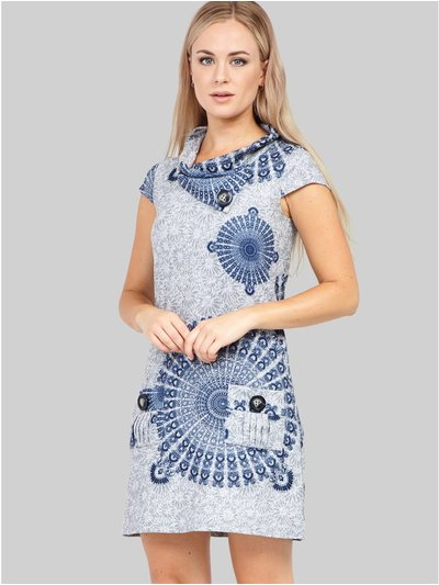 Izabel eastern print knitted dress