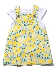 Lemon pinny dress and top set