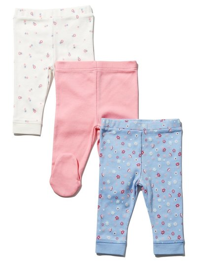 Floral leggings three pack (Newborn-18mths)