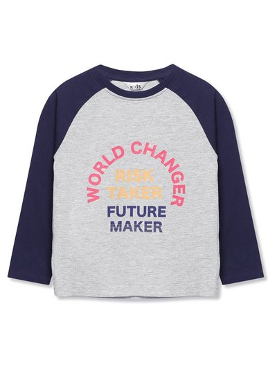 World changer slogan raglan t-shirt (9mths-5yrs)