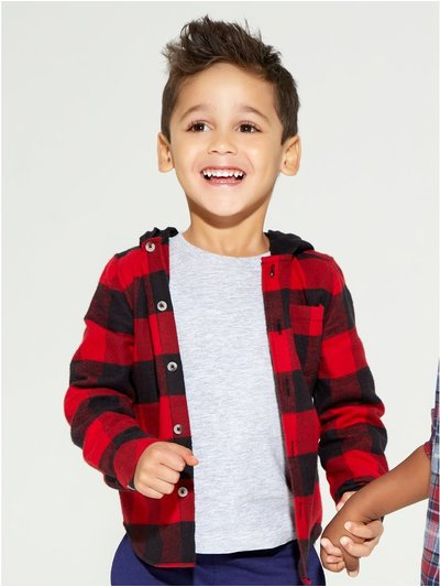 Hooded check shirt (9mths-5yrs)
