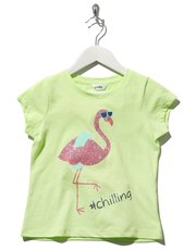 Flamingo slogan print t-shirt
