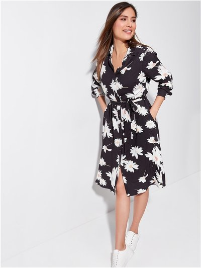 Khost floral shirt dress
