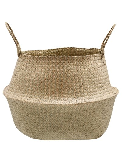 Large natural woven basket