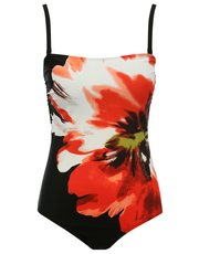 Poppy print tummy control multiway swimsuit
