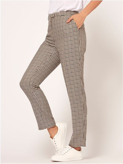 Heritage check tapered trousers