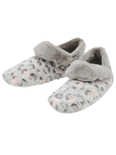 Animal print boot slippers