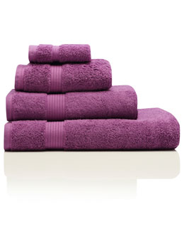 Purple Combed Cotton Towels