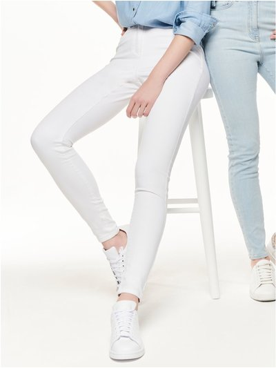 White super skinny jeans