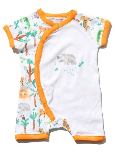 Minoti jungle print romper (0 mths - 1 yr)