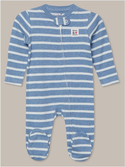 Blue striped sleepsuit (Newborn-18mths)