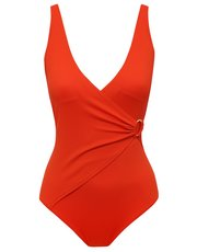 Orange wrap swimsuit