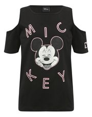 Teens' Mickey Mouse cold shoulder top