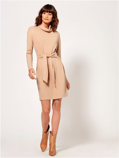 Tie front jumper dress