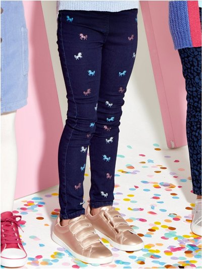 Glitter unicorn jeggings (3-12yrs)