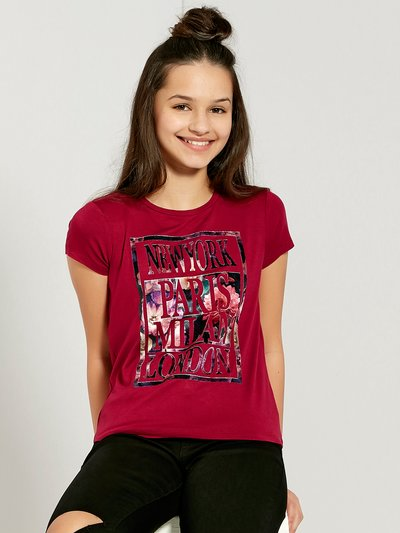 Teens' city slogan t-shirt