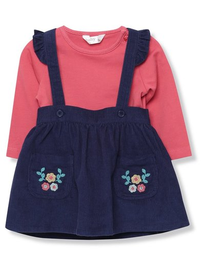Floral pinny dress and top set (Newborn-18mths)