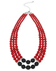 Colour block beaded necklace